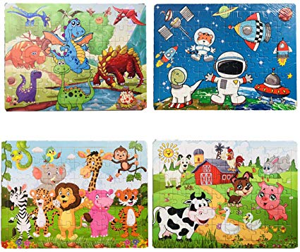 Wooden Puzzles for Kids Age 3-8