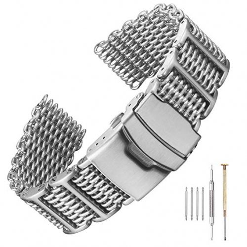 H-Link Shark Stainless Steel Mesh Strap Wrist Watch Band