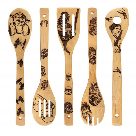 Star War Burned Wooden Spoons Utensil Set Gift Idea Cooking Serving Utensils
