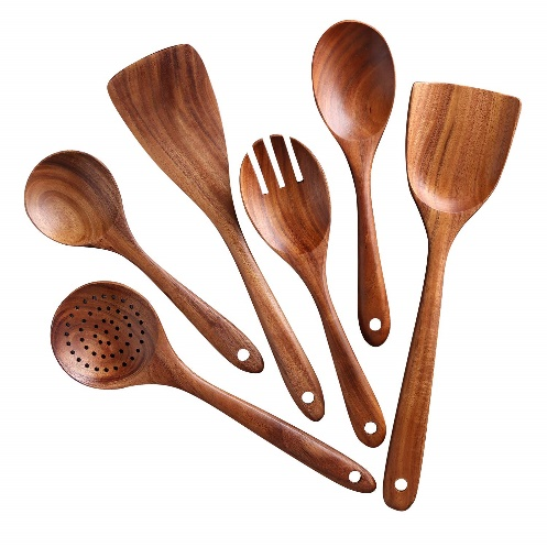 Kitchen Utensils Set, Wooden Cooking Utensil Set Non-stick Pan Kitchen Tool