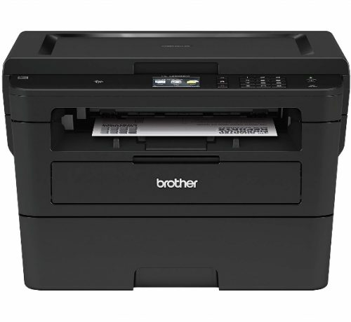 Brother Compact Monochrome Laser Printer, HLL2395DW, Flatbed Copy & Scan