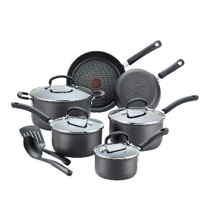 T-fal E765SC Ultimate Hard Anodized Nonstick 12 Piece Cookware Set - Cooking Pot