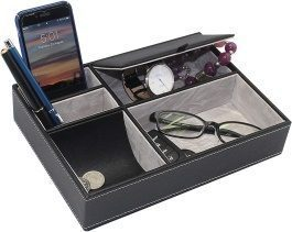 MAGGIFT Art Muse Kits Maggift Faux Leather Valet Tray - Valet Trays For Men