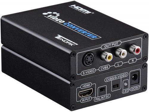 Tendak Tendak HDMI to Composite 3RCA AV S-Video R/L Audio Vdieo Converter Adapter