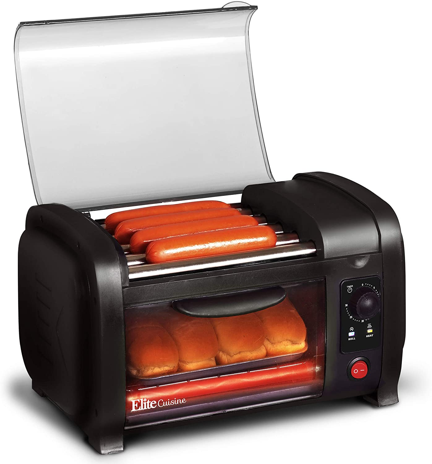 Elite Cuisine EHD-051B Hot Dog Toaster Oven