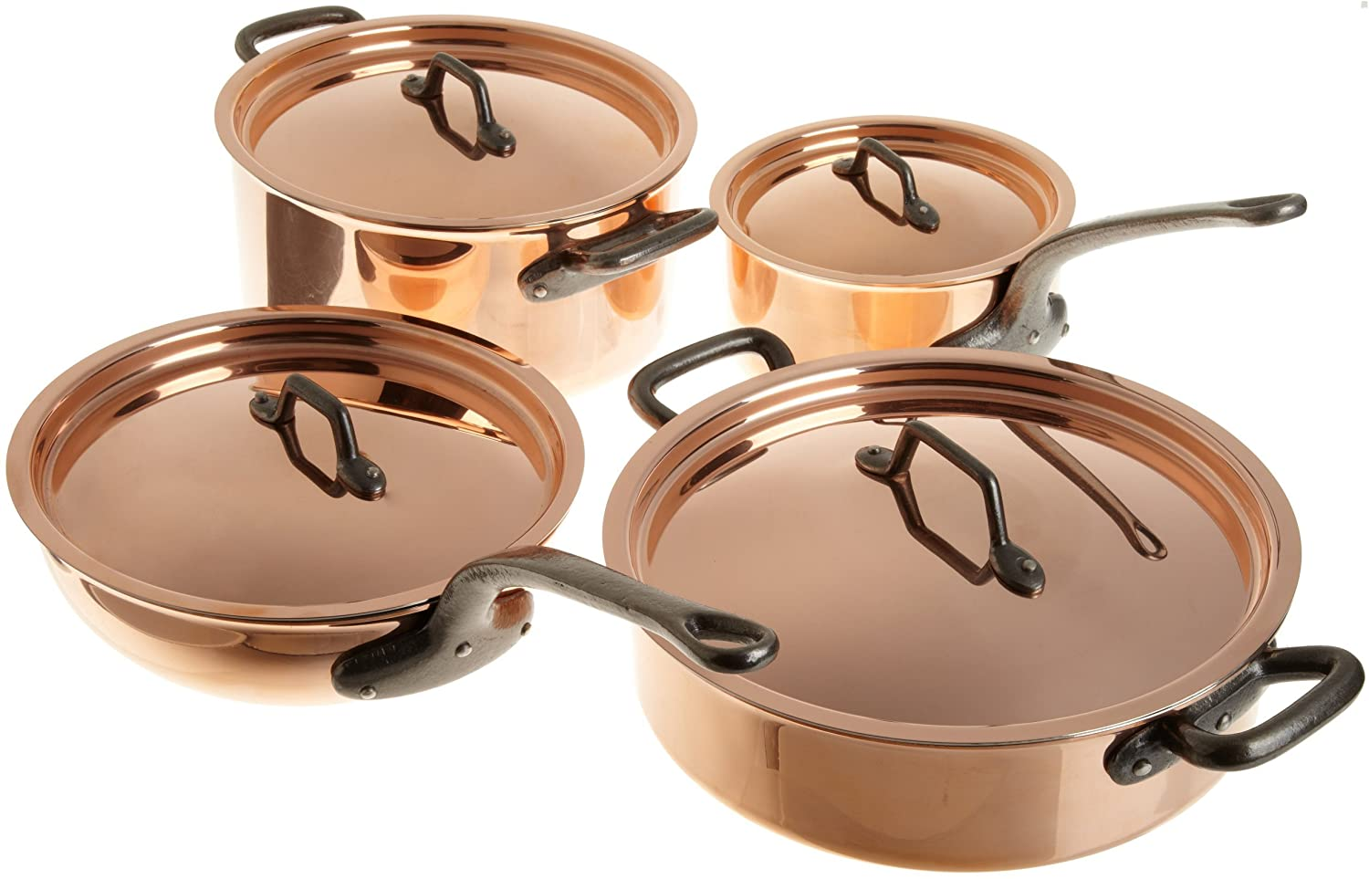 Matfer Bourgeat Matfer 915901 8 Piece Bourgeat Copper Cookware Set, B000XXBP4E