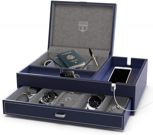 HOUNDSBAY Admiral Big Dresser Valet Box - Men's Jewellery Boxes