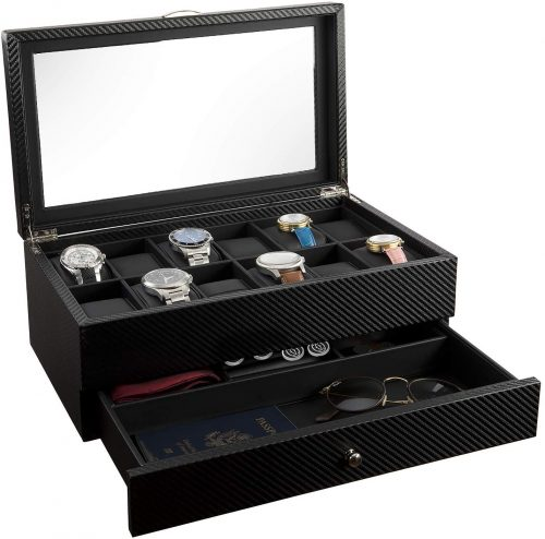 Watch Box- Display Case & Organizer For Men| First-Class Jewelry Watch Holder - Men's Jewellery Boxes