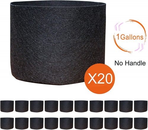 Gardzen 20-Pack 1 Gallon Nonwoven Grow Bags, Aeration Fabric Pots