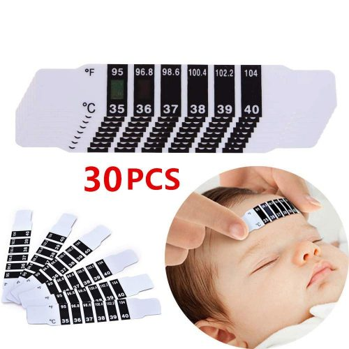 (30 Pcs) Instant Read Forehead Temperature Thermometer Strips