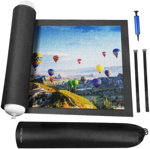 Rollable Jigsaw Puzzle Mat with Storage Bag