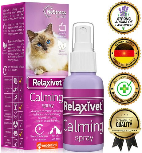 Relaxivet Natural Calming Spray for Cats and Dogs