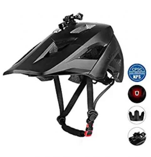 MOKFIRE Mountain Bike Helmet with USB Safety Light