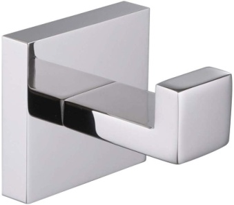 Bath Towel Hook, Angle Simple Solid Metal Bathroom Shower Square Hook Hand Towel