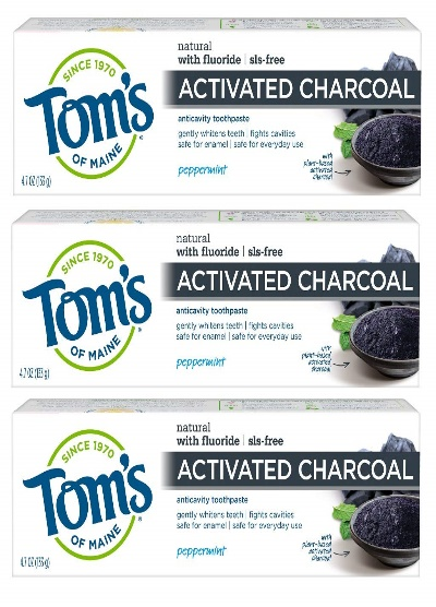 Tom's Maine activated charcoal toothpaste