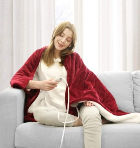 WAPANEUS electric heated blanket - Electric Throw Blankets