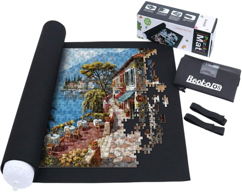 Becko Puzzle Mat, Jigroll Up to 1,500 Pieces