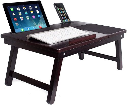 Sofia Sam multitasking bed table– Large Laptop Table w/ Built-in Mouse Pad