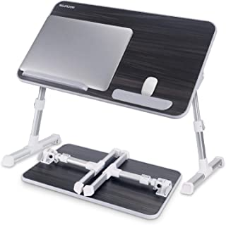 Nearpow Adjustable Portable Standing Foldable, Foldable Lap Tablet Table for Sofa Couch Floor - Medium Size