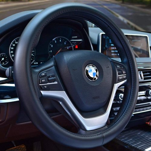 Valleycomfy Universal 15 inch Auto Car Steering Wheel Cover