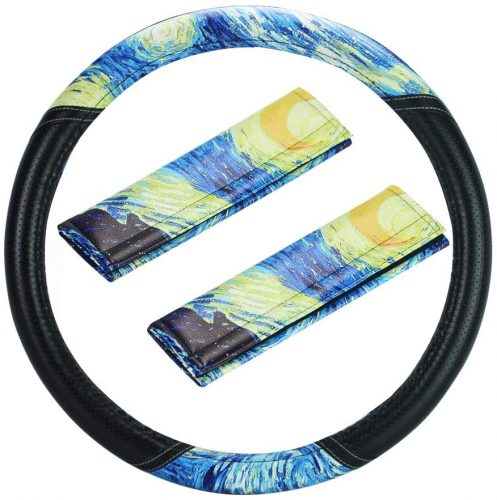 LIZIMANDU 1Pc Car Steering Wheel Cover