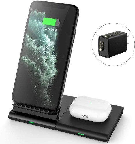 Hoidokly Dual 2 in 1 Wireless Charger Stand