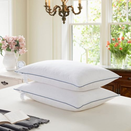 Wenersi White Goose Feather and Down Pillow