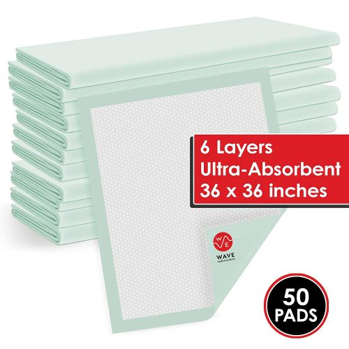 """Wave Medical Heavy Absorbency 36"""" x 36"""" Quilted Fluff And Polymer Disposable Underpads"""