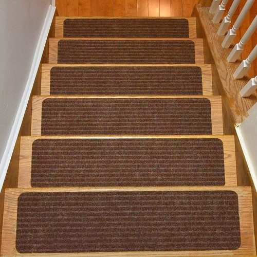 Stair Treads Collection Set of 15 Indoor Skid Slip Resistant Carpet Stair Tread Treads