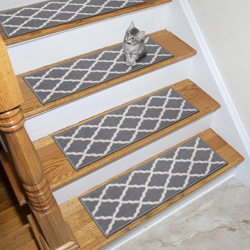Ottomanson Glamour Collection Trellis Design Stair Tread