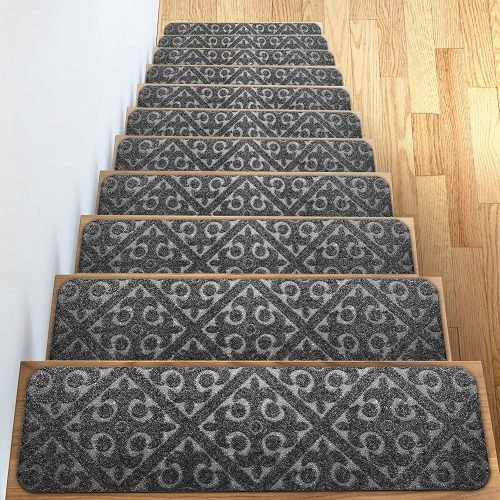 Carpet Stair Treads Set of 13 Non-Slip/Skid Rubber Runner Mats or Rug Tread