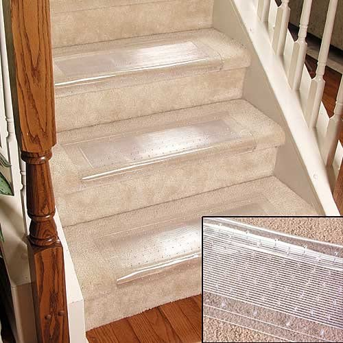 Clear Stair Treads Carpet Protectors
