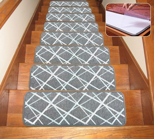 Seloom Dog Assist Gray Stair Treads Carpet