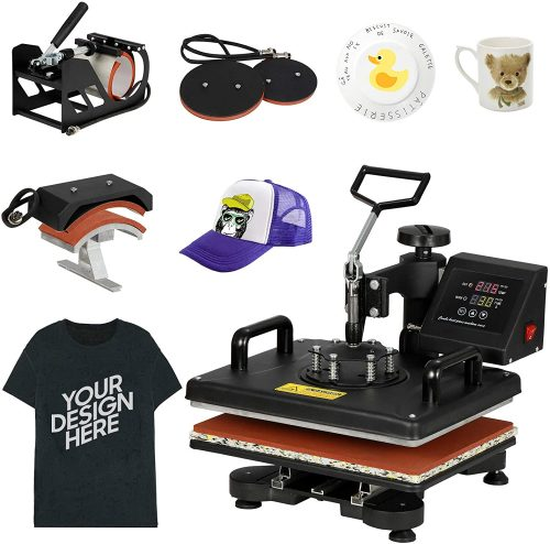 F2c Pro Home 15 X 15 Teflon Digital Clamshell T Shirt Heat Press Heat Transfer Press Machine Arts Crafts Sewing Printmaking