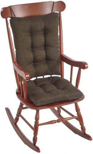 The Gripper Chest-nut non-slip Omega Rocking Chair Cushion