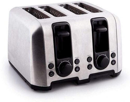 MBBJJ Toaster Slice Warming Rack Brushed Stainless Steel