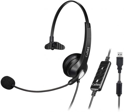 USB Headset with Microphone Noise Cancelling & Audio Controls