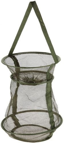 Outamateur Bottle-Shaped Collapsible Mesh Fishing Cage/Fishing Net Portable and Durable,Perfect for Keeping Fishes/Smelt/Minnows/Crab/Shrimps/Lobsters(Green)