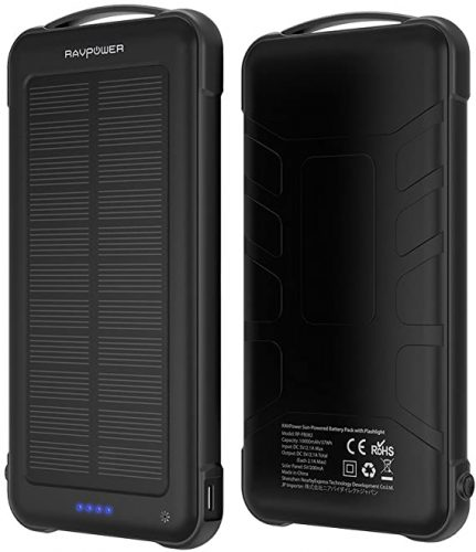 RAVPower 10 mAh Outdoor Battery Pack Solar Charger