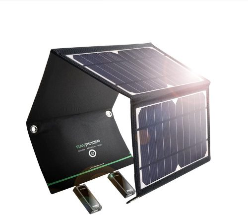 RAVPower 24W Solar Charger with 3 USB Ports