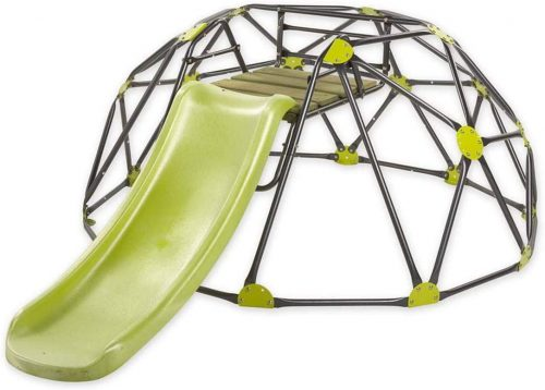 HearthSong Climbing Dome with Slide, Gray