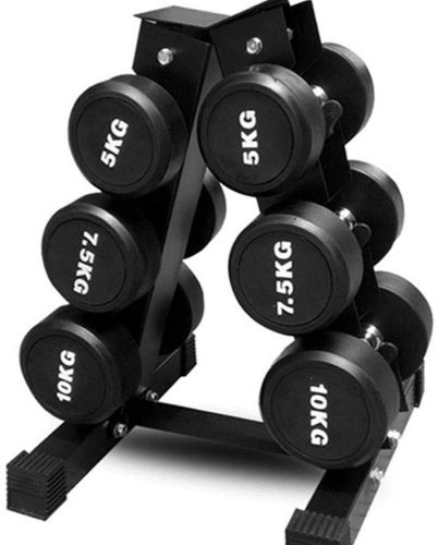 XJ 3-Tier A-Type Dumbbell Storage Rack