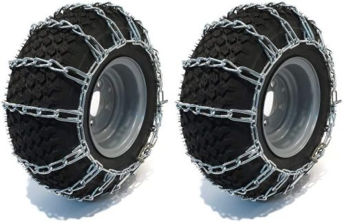 The ROP Shop | Pair of 2 Link Tire Chains 26x12x12 for Snow Blowers