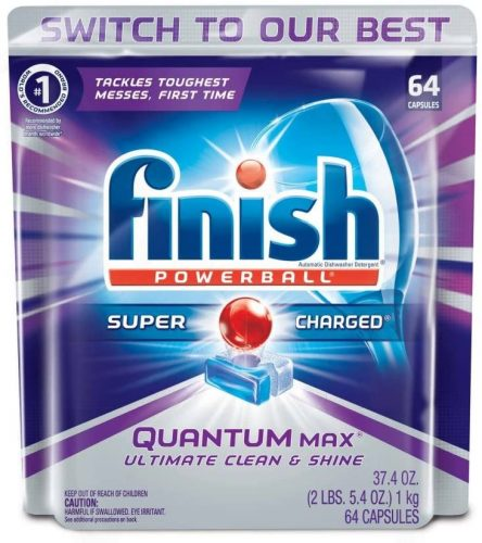 Finish Quantum Max Powerball Dishwasher Detergent Tablets