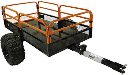 MotoAlliance Impact ATV/UTV Heavy Duty Utility Cargo Trailer 1500lb Capacity 15 cu. ft.