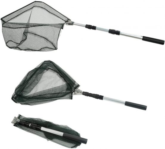 REST CLOUD Fishing Net & Telescoping Pole Handle Extendable
