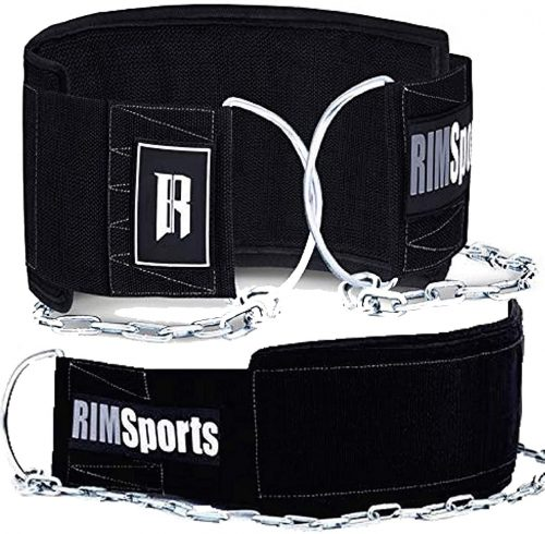 RIMSports Dip Belt with Chain for Pullups