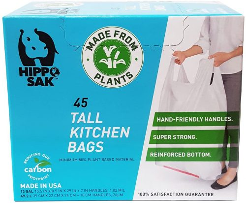 Plant Based - Hippo Sak Tall Kitchen Bags with Handles