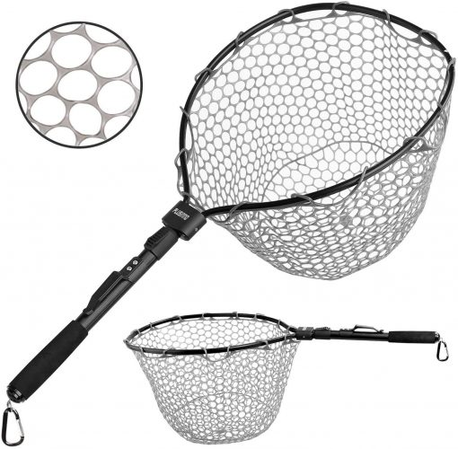 PLUSINNO Fly Fishing Net, 16 by 13 Fish Landing Net + Soft