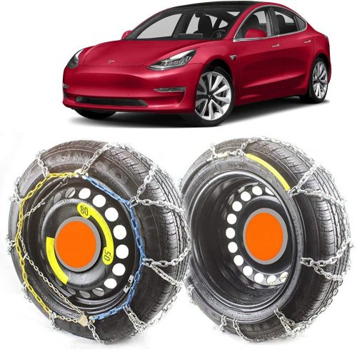 "Tesla Model 3 Snow Chain fit for 18"" Wheel"